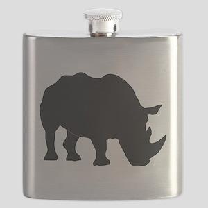 Rhino Silhouette Flask