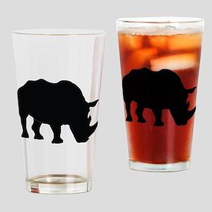 Rhino Silhouette Drinking Glass
