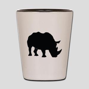 Rhino Silhouette Shot Glass