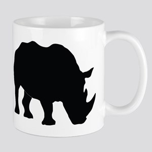 Rhino Silhouette Mugs