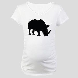 Rhino Silhouette Maternity T-Shirt