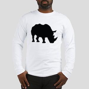 Rhino Silhouette Long Sleeve T-Shirt