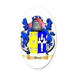 Meraz Oval Car Magnet