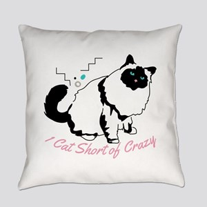 Birman one cat short of crazy Everyday Pillow