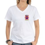 Meniguzzi Women's V-Neck T-Shirt