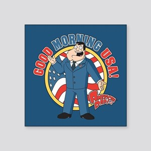 "American Dad Stan Good Morn Square Sticker 3"" x 3"""