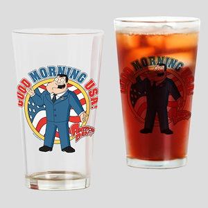 American Dad Stan Good Morning USA Drinking Glass