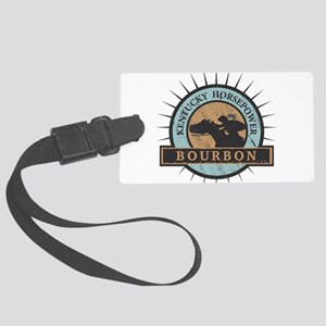 Kentucky Horsepower - BOURBON Large Luggage Tag