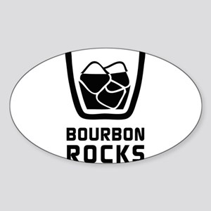 Bourbon Rocks Sticker