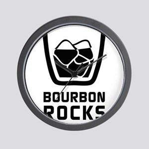 Bourbon Rocks Wall Clock