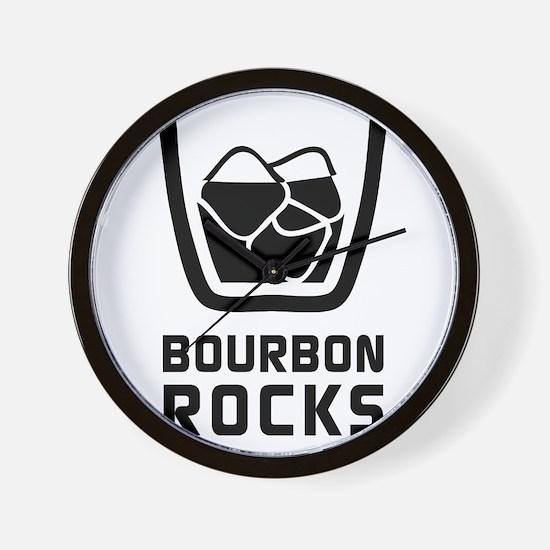 Bourbon Rocks Wall Clock