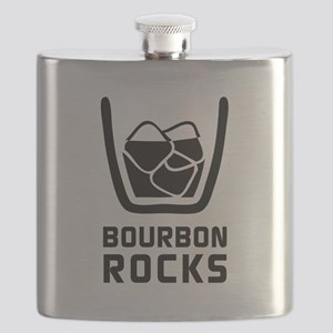 Bourbon Rocks Flask