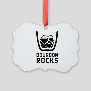 Bourbon Rocks Picture Ornament
