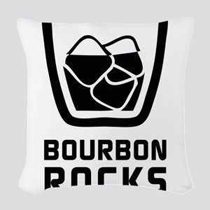 Bourbon Rocks Woven Throw Pillow