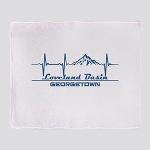 Loveland Basin - Georgetown - Colo Throw Blanket