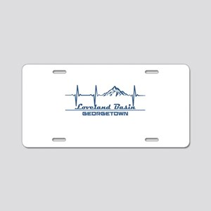 Loveland Basin - Georgeto Aluminum License Plate
