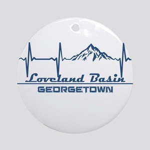 Loveland Basin - Georgetown - Col Round Ornament