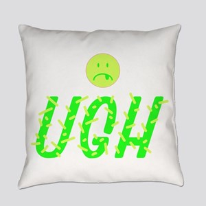 UGH Frown Face Everyday Pillow