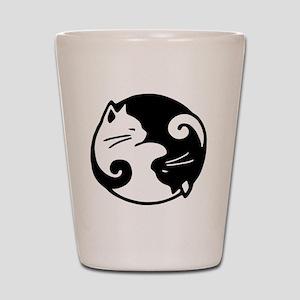 0777555e9a35 Cats Ying Yang Shot Glasses - CafePress