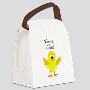 Funny Tennis Chick Canvas Lunch Bag