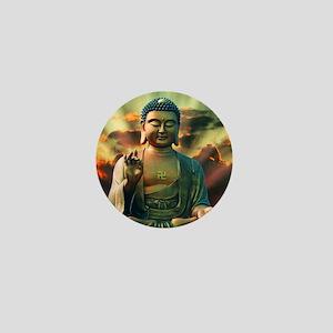 Buddha Sunrise Mini Button