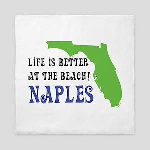 Life is better at the beach - Naples Queen Duvet