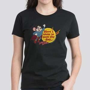Mighty Mouse: Save The Day Women's Dark T-Shirt