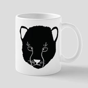 Cat Face Silhouette Mugs