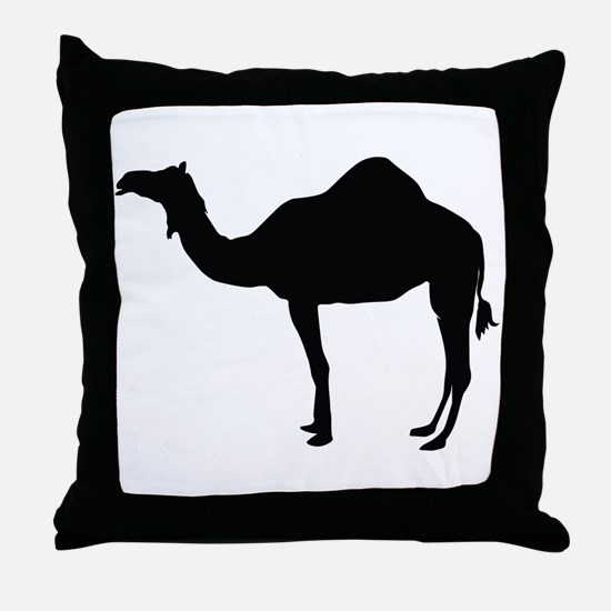 Dromedary Camel Silhouette Throw Pillow