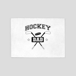 hockey dad 5'x7'Area Rug