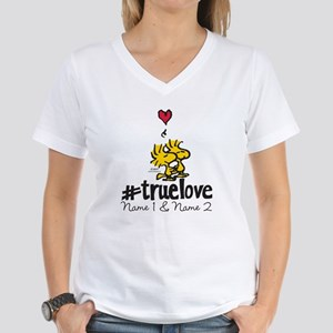 Woodstock True Love - Perso Women's V-Neck T-Shirt