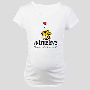 Woodstock True Love - Personaliz Maternity T-Shirt