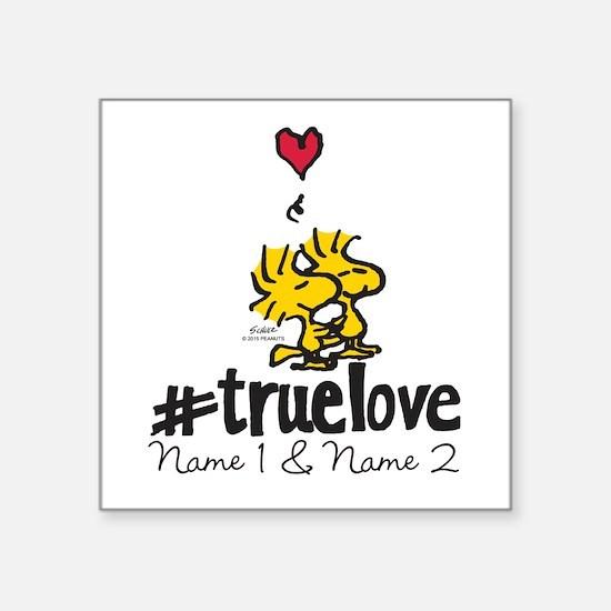 """Woodstock True Love - Perso Square Sticker 3"""" x 3"""""""