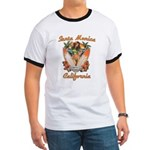Santa Monica California Ringer T T-Shirt