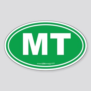 Montana MT Euro Oval GREEN Sticker (Oval)