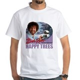 Bob ross Mens Classic White T-Shirts