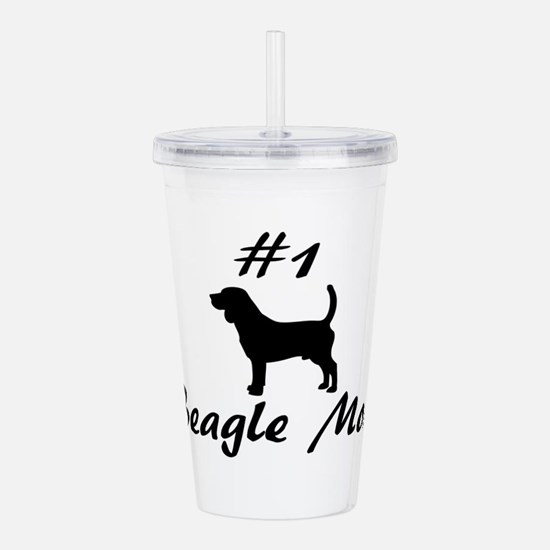 Number 1 Beagle mom. Acrylic Double-wall Tumbler