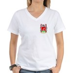 Menghi Women's V-Neck T-Shirt