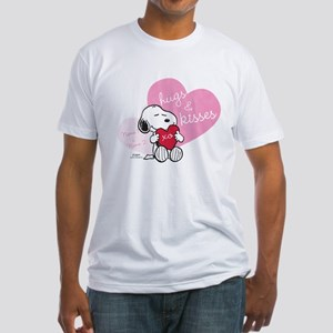 Snoopy Hugs and Kisses - Personaliz Fitted T-Shirt