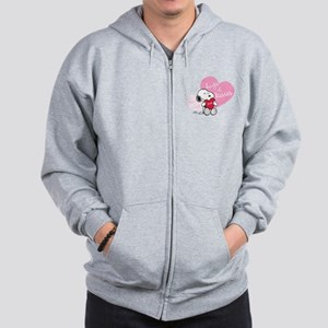 Snoopy Hugs and Kisses - Personalized Zip Hoodie