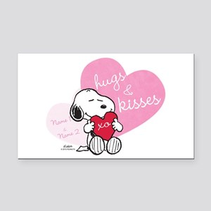 Snoopy Hugs and Kisses - Pers Rectangle Car Magnet