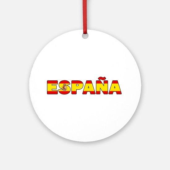 Espana Round Ornament