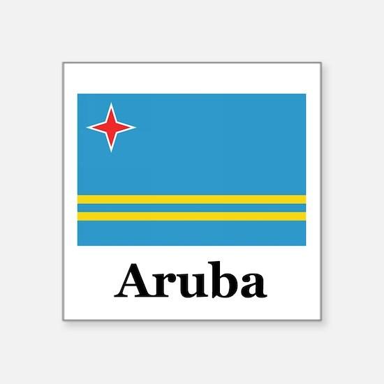 "Cute Aruban Square Sticker 3"" x 3"""