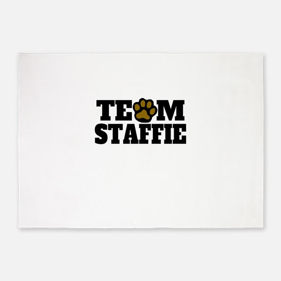 Team Staffie 5'x7'Area Rug
