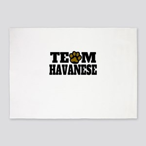 Team Havanese 5'x7'Area Rug