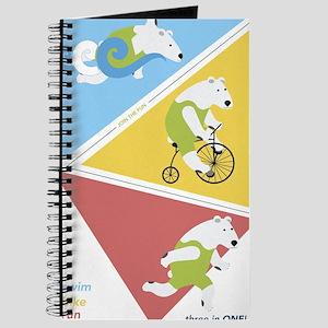 Triathlon Polar Bears Poster Journal