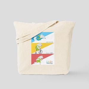 Polar Bear Triathletes Ad Tote Bag