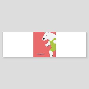 Running Polar Bear Tenacious Youth Bumper Sticker