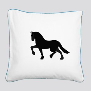 Friesian Square Canvas Pillow
