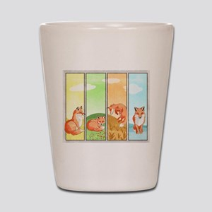 Season of the Foxes Shot Glass